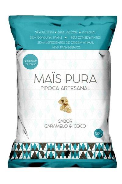 Pipoca mais pura - sabor caramelo e coco - 150g