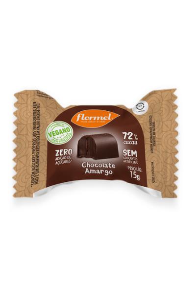 Bombom chocolate amargo zero - flormel - 15g
