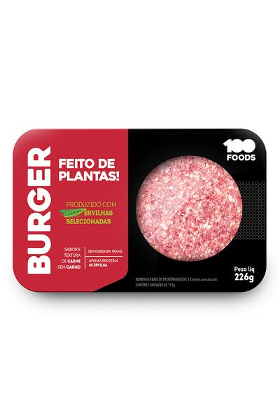 Hamburguer vegetal sabor carne 100 Foods - 226g