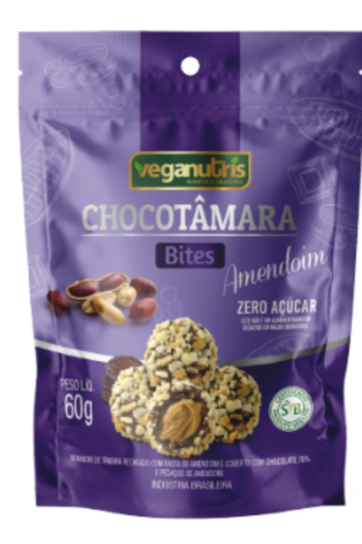 Chocotâmara Bites Amendoim Veganutris - 60g