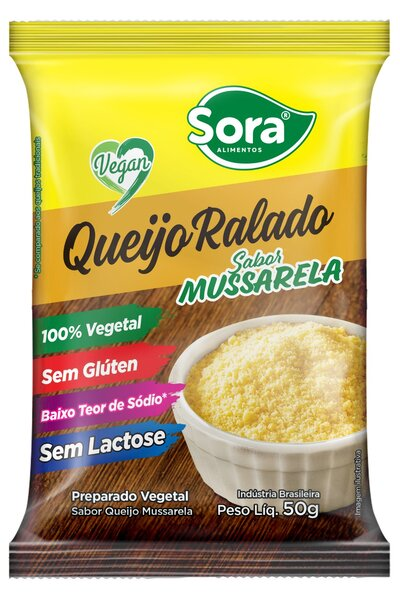 Queijo ralado vegetal sabor mussarela Sora - 50g