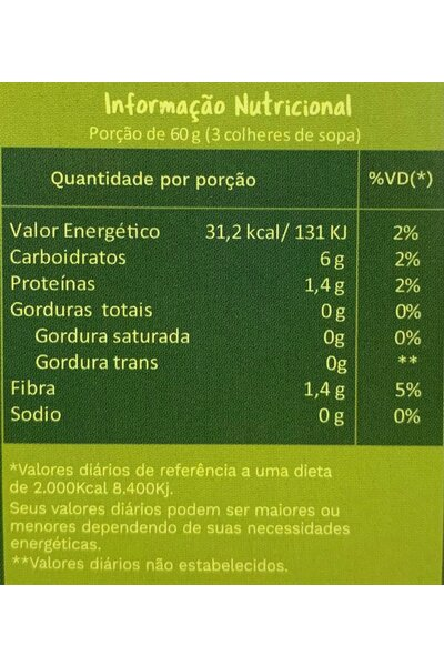 Jaca verde desfiada orgânica - fazenda burin 500g - Venc. 11/11
