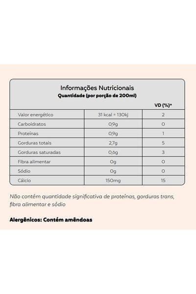 Cappuccino de leite de amendoas - não adoçado natuterra - 1 litro
