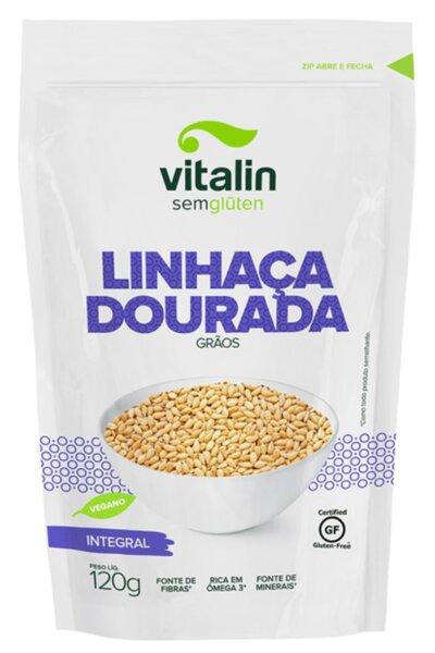 Linhaça dourada grãos integral - 120g