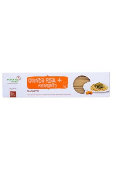 Macarrão spaghetti tradicional - quinoa real e amaranto - reserva mundi - 300g