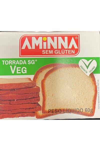 Torrada Vegana sem gluten Aminna - 60g