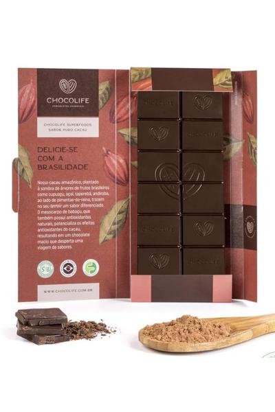 Chocolate 67% cacau Puro Superfoods Chocolife- 80g