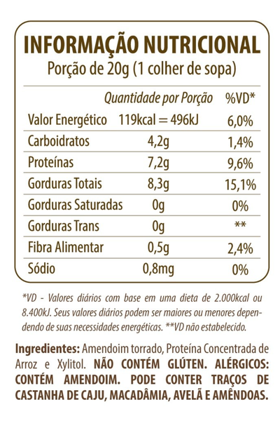 Pasta de amendoim protein eat clean 300g