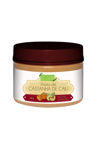 Pasta de castanha de caju salted caramel - eat clean 300g