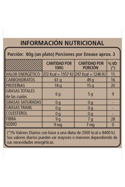 Macarrão de grão-de-bico e chia wakas *18g proteína - 250g