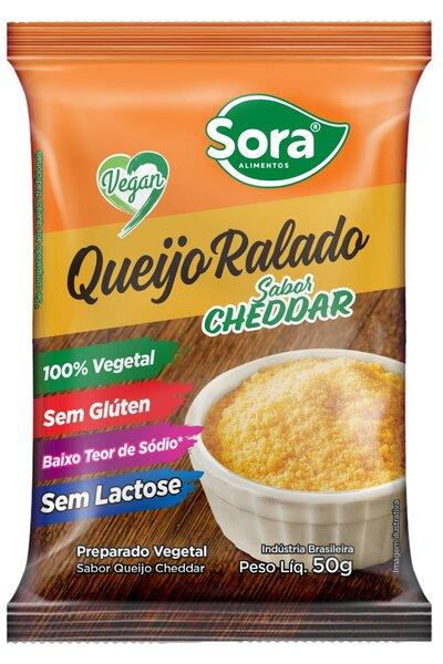 Queijo ralado vegetal sabor cheddar Sora - 50g