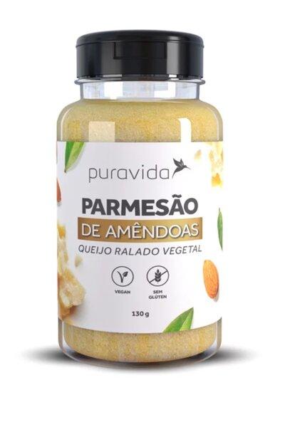 Queijo ralado vegetal parmesão de amêndoas puravida - 130g