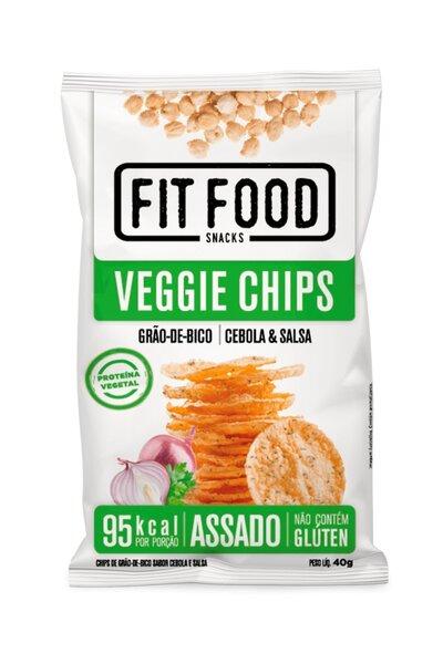 Veggie chips de grão de bico cebola e salsa Fit food - 40g