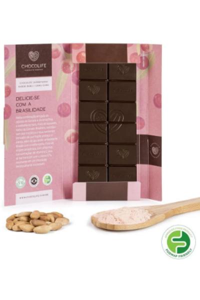 Chocolate 67% cacau baru e camu-camu Superfoods Chocolife - 80g