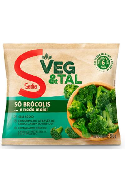 Brócolis congelado sadia veg&tal - 300g