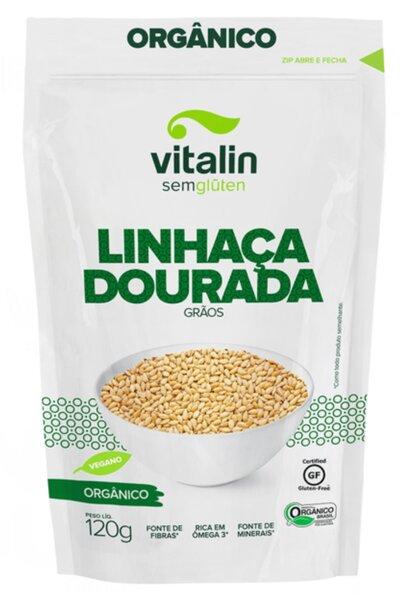 Linhaça dourada grãos orgânica - 120g