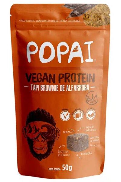 Snack Vegan Protein sabor Tapi Brownie de alfarroba Popai - 50g *8,6g de proteína