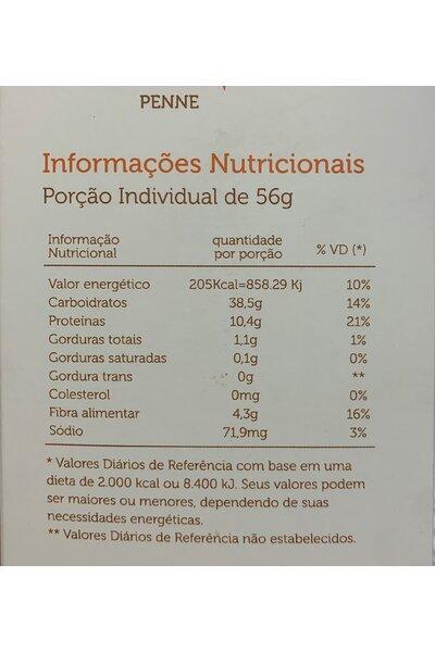 Macarrão penne - quinoa e lentilha - reserva mundi - 300g