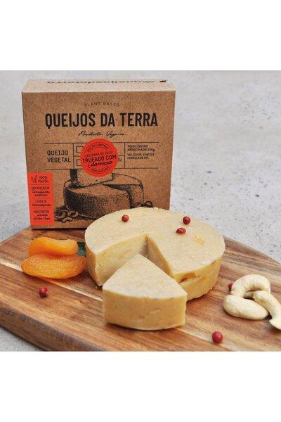 Queijo vegetal castanha de caju trufado com damasco - queijos da terra 120g