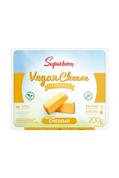 Queijo Cheddar Gourmet Vegano Superbom - 200g
