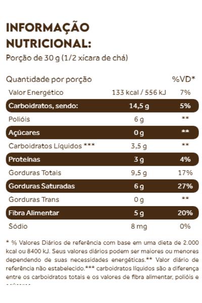 Coconut granola low cab dark chocolate puravida - 180g