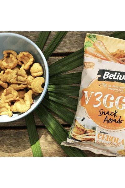 Snack V3GGIE Cebola Caramelizada Belive *7g proteinas - 35g