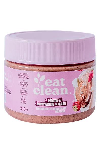 Pasta de castanha de caju morango c/ chocolate branco eat clean - 300g