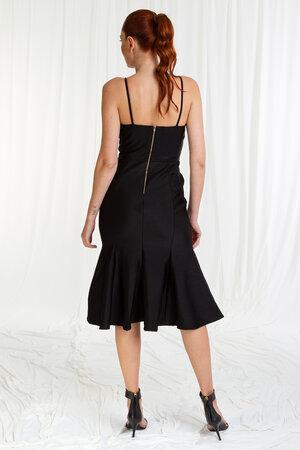 Vestido Mid Alcinha Abertura No Decote Saia 7