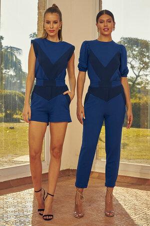 Blusa Muscle Tee Dual Azul