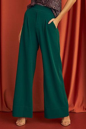 Calça Pantalona com Pregas