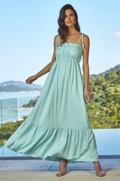 Vestido de Linho Al Mare com Alças para Amarração