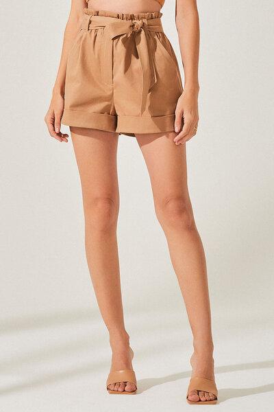 Shorts de Sarja Clochard com Barra Italiana