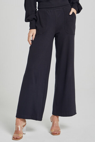 Calça Pantalona Canelada