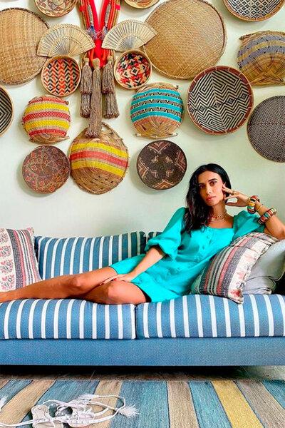Vestido Silvia Braz com Manga Bufante e Cinto