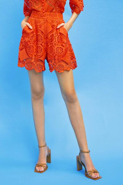 Shorts Em Renda