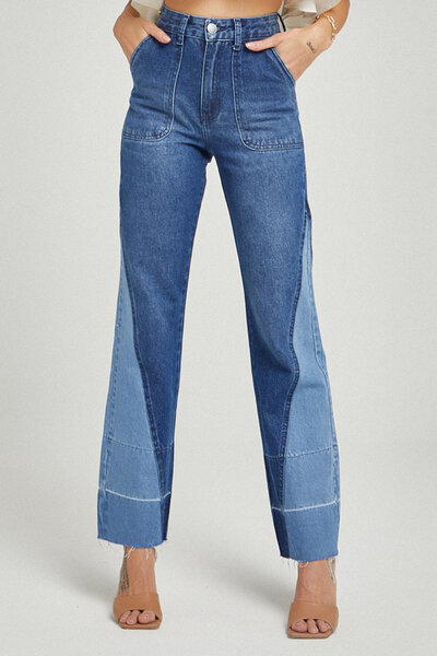 Calça Jeans Loose Leg Triangular